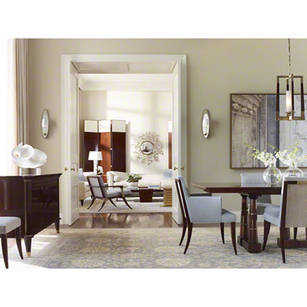 baker dining room table and chairs portobello road grand rapids furniture blossom mirror 8856
